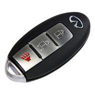 Cмарт ключ Infiniti пульт ДУ с лезвием в корпусе с 3 кнопками